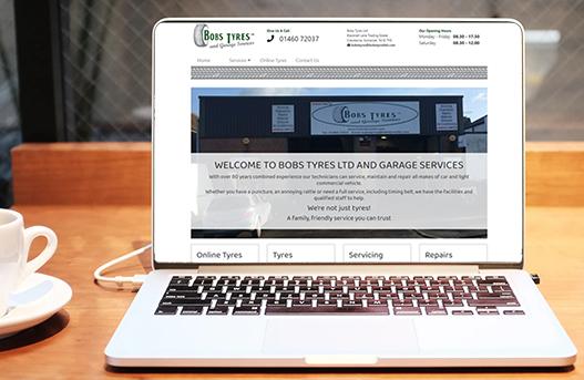 Bobs Tyres website screenshot